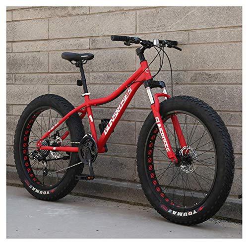 GONGFF 26 Inch Mountain Bikes, High-Carbon Steel Hardtail Mountain Bike, Fat Tire All Terrain Mountain Bike, Women Men's…