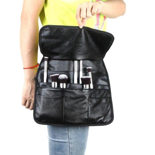 Docooler Professional PU Cosmetic Makeup Brush Bag Apron with Artist Belt Strap (Size3)