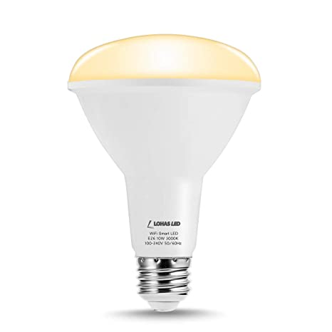 LOHAS WiFi Smart Bulb BR30 LED, Alexa Light Bulbs Timer Tuya, 75W Light  Bulb Equivalent(10W), BR30 E26 Soft White 3000K LED Flood Light Dimmable by