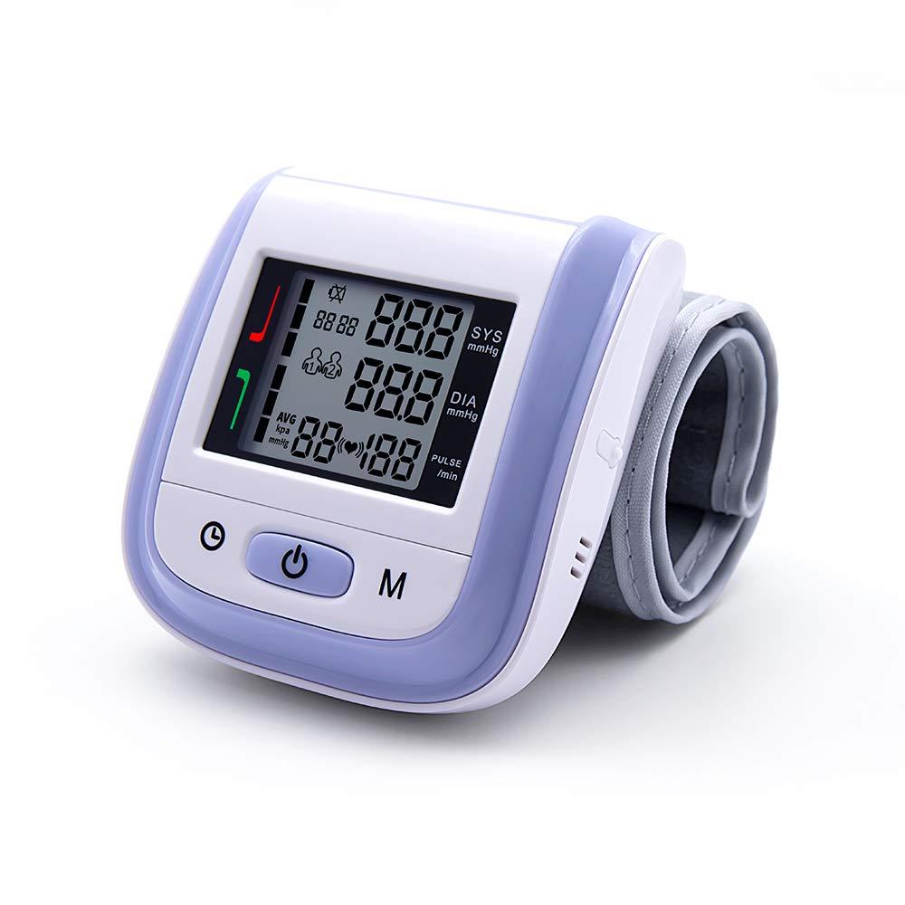 Automatic Wrist Digital Blood Pressure Monitor Heart Beat Meter with Large LCD Display Yonker YK-BPW1 - Purple