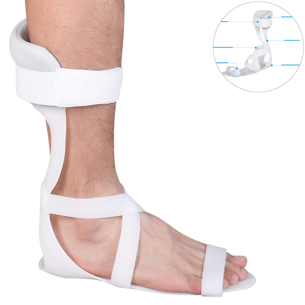 Echaprey Adjustable Swedish Ankle Foot Orthosis (AFO) for Foot and Ankle Support (Right, L)