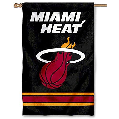 Party Animal NBA Sports Team Logo Miami Heat Applique Banner Flag 44'' x 28'' by Party Animal