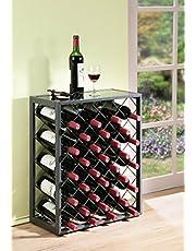 Mango Steam 32 Flessen Wijnrek Met Glazen Tafelblad, Grijs