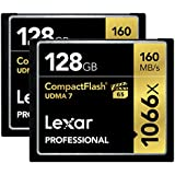 Lexar Professional 1066 x 128GB CompactFlash Card LCF128CRBNA10662-2 Pack