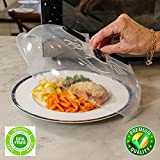 OzBSP Magnetic Microwave Plate Cover Splatter Lid - with Steam Vents & Strong Magnets | Safe BPA Free | Anti Splatter Splash Guard over food keeps microwave clean | Large Plastic 11.8 inch Lid