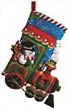 Bucilla Candy Express Christmas Stocking Felt Applique Kit, 86147 18-Inch
