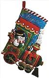 Bucilla 18-Inch Christmas Stocking Felt Applique Kit, Candy Express
