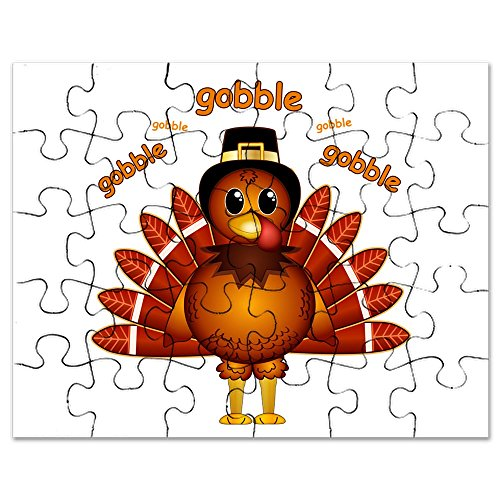 CafePress - Gobble Gobble Turkey - Jigsaw Puzzle, 30 pcs.