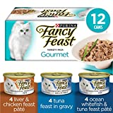Fancy Feast Wet Cat Food, Gourmet Variety Pack 85 g Cans (12 pack)
