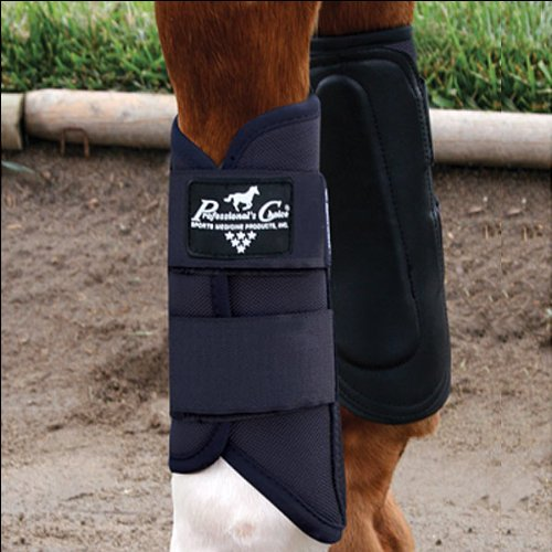 (Professionals Choice Equine Ventech Ballistic Brushing Front Boot, Pair (Universal Size, Black))