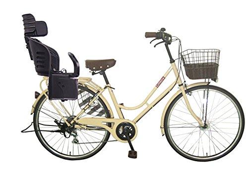 Lupinusルピナス 自転車 26インチ LP-266HA-knrj-bk シティサイクル LEDオートライト SHIMANO製6段ギア 樹脂製後子乗せブラック B079DPBJ3Lミルクティー