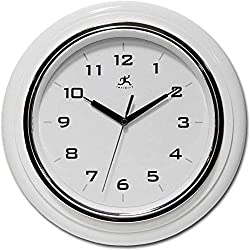 Infinity Instruments 14759WH-3780 Deluxe Wall Clock