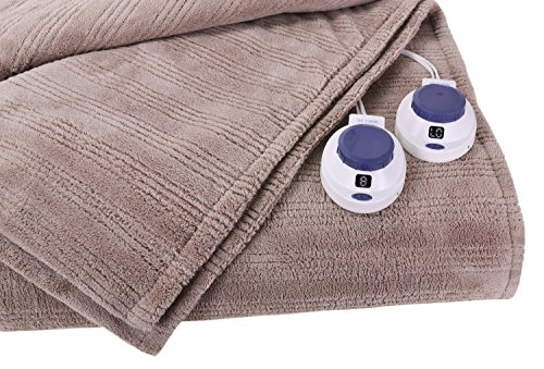 Soft Heat Ultra Micro-Plush Low-Voltage Electric Heated Triple-Rib King Size Blanket, Beige by SoftHeat