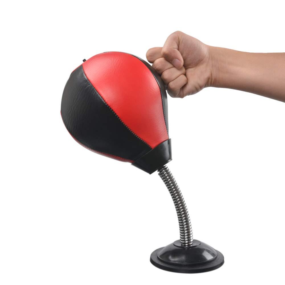 Milky House デスクトップパンチングバッグ ストレスバスター ストレス解消 ボクシングボール 強力な吸盤 自立式デスクおもちゃ オフィス ホームフレンド