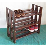 Brown Finish Shoe Rack