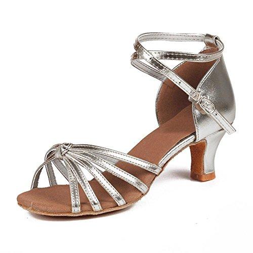 YFF Tango 11Corlors danse latine 5cm 7cm de Bal femmes Chaussures silver heels 5cm YzrwpY