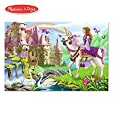Melissa & Doug Fairy Tale Castle Floor Puzzle (Easy-Clean Surface, Promotes Hand-Eye Coordination, 48 Pieces, 60.96 cm L x 91.44 cm W)