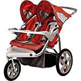 InStep - Safari Double Jogging Stroller Red and Gray