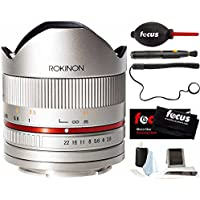 Rokinon RK8MS-FX 8mm F2.8 Series 2 Fisheye Fixed Lens for Fujifilm X-Mount Cameras, Silver & Photo Accessories