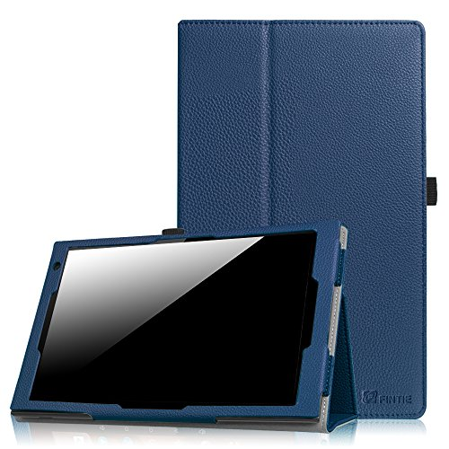 Fintie Case for NPOLE Tablet 10.1 (NT101) / Alldaymall A10T 10.1-Inch Android Tablet, Premium PU Leather Folio Cover with Stylus Holder, Navy