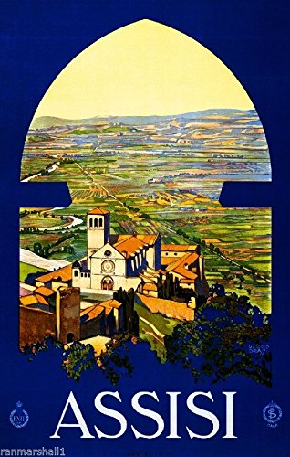 - MAGNET Assisi Italy Vintage European Travel Advertisement Magnet Picture Print