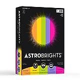 Neenah Astrobrights Premium Color Paper Assortment, 24 lb, 8.5 x 11 Inches, 500 Sheets, Happy (21289)