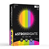 "Astrobrights Color Paper, 8.5"" x 11"", 24 lb / 89 gsm, ""Happy"" 5-Color Assortment, 500 Sheets фото"