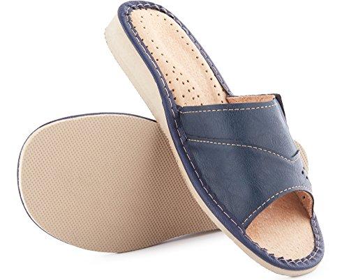 Scuro Pantofole Blu Labr34 Ladeheid Donna wqTxSw6