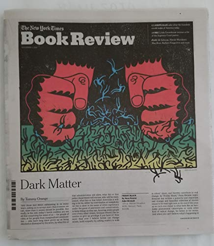Book cover from The New York Times Book Review - November 4, 2018 - Dark Matter by Tommy Orange