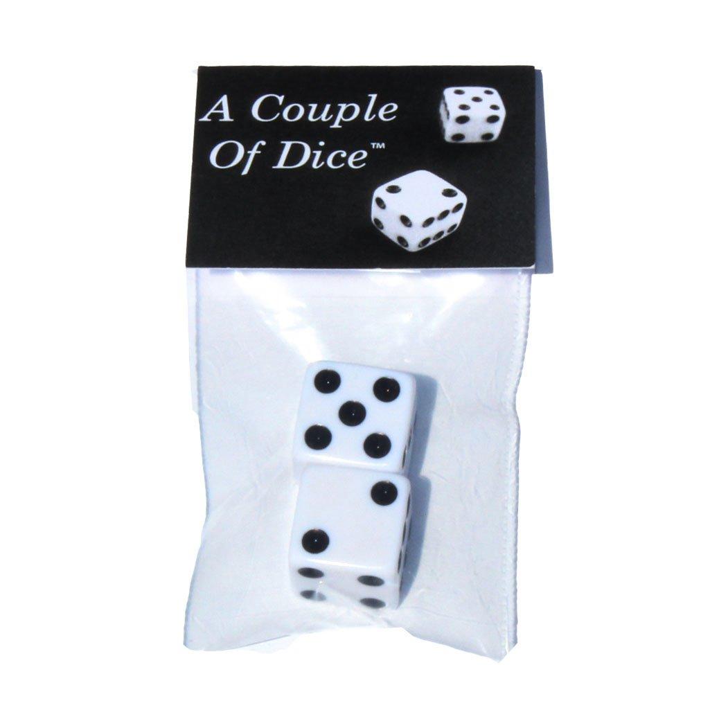 ダイス カップル カスタム & ユニーク スタンダード ミディアム 16mm 2個パック D6 スクエア キューブ 型 プレイング & ギャンブル ゲーム ダイス プラスチック 丸みを帯びた角 エッジ クラシックなデザイン (白 黒の先端)   B07DK4RQ6Q