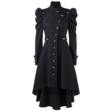 f0c66118a4e5b Womens Vintage Steampunk Gothic Western Long Duster Jacket Coat Sunmoot