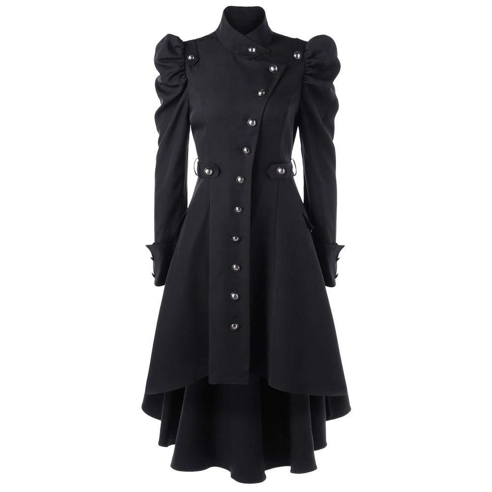 AOJIAN Women Jacket Long Sleeve Outwear Coat Black