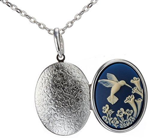 Hummingbird Locket Best Friend Necklace Photo Pendant Fashion Jewelry 18