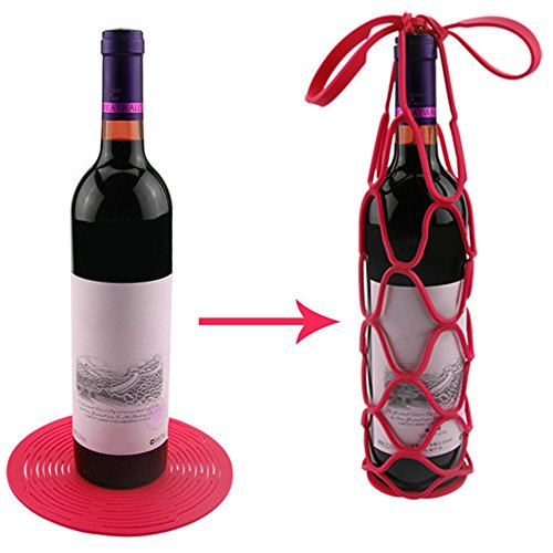 2Pcs Multifunctional Silicone Wine/Bottle Fruit Storage Basket Package... - 511HA389wZL
