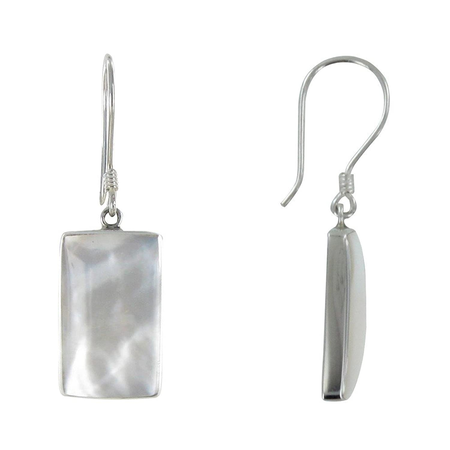 48a4380353910 Les Poulettes Jewels - Sterling Silver Earrings Mother of Pearl ...