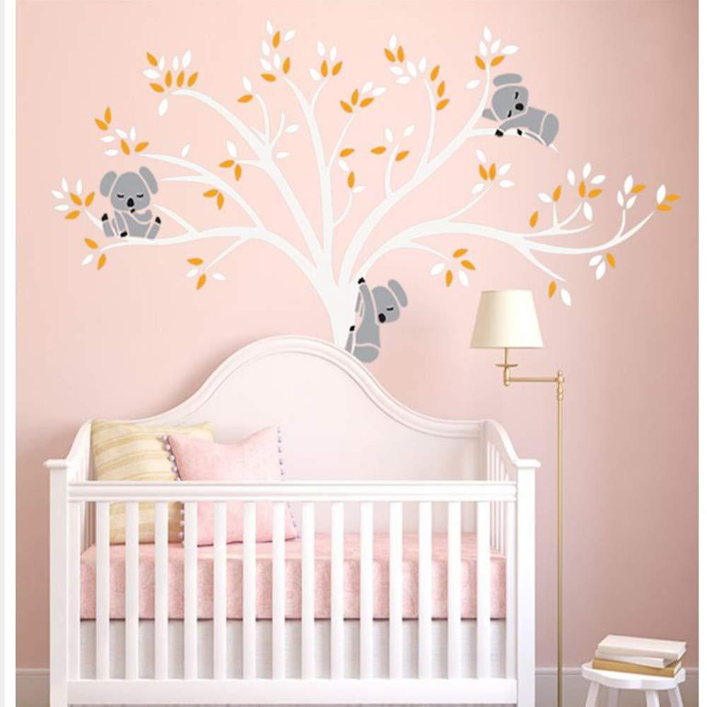 CHENYAN Sticker Mural Grande Taille Ours /& Arbre Sticker Mural Pour Enfants Koala Bande Dessin/ée Maternelle Soins de Jour B/éb/é Chambre Vinyle Home Decor Art Decal