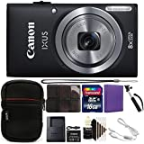 Canon Ixus 185/Elph 180 20MP Compact Digital Camera 8x Optical Zoom Black with Great Value Kit