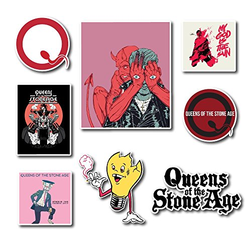 Queens of the Stone Age Sticker Set Pack Rock Band Decal for Car Window, Bumper, Laptop, Skateboard, Wall, ETC. Set-049 -