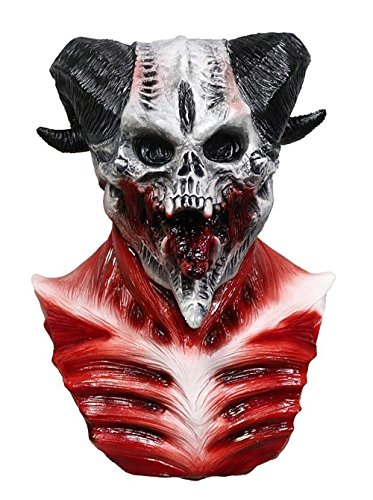 Scary Devil Costumes - COMLZD Cave Demon Skull Mask Skeleton