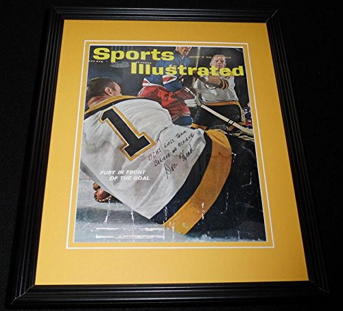 Don Head Signed Framed 1962 Sports Illustrated Magazine Cover Bruins - Autographed NHL Magazines