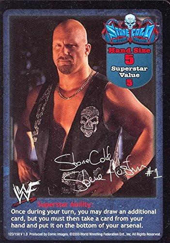 WRESTLING WWE RAW DEAL CCG 2000 PROMO CARD STONECOLD STEVE AUSTIN WWF