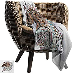 "Davishouse Horse Blanket Sheets African Indigenous Totem Animal Theme Modern Art with Colorful Tribal Arrow Motifs Home, Couch, Outdoor, Travel Use 50"" Wx60 L"