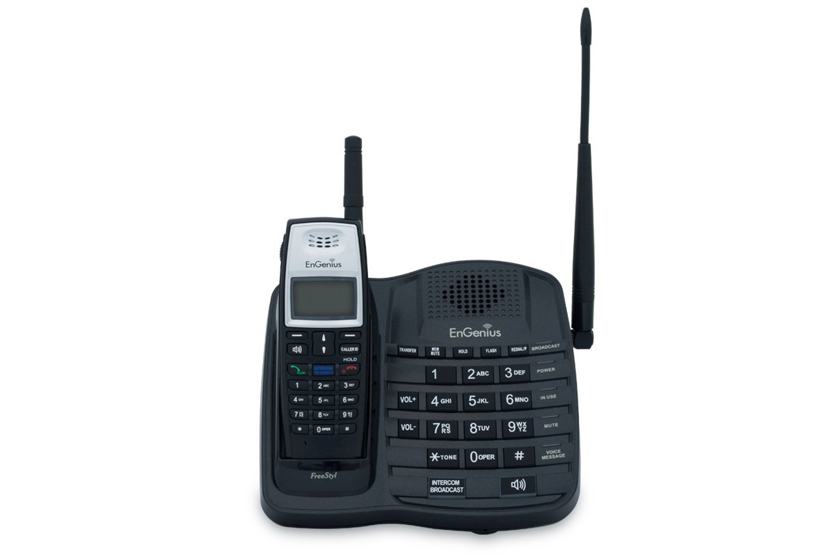 ENGENIUS FreeStyl1 Commercial/Estate Cordless Phone System with 2-Way Radio