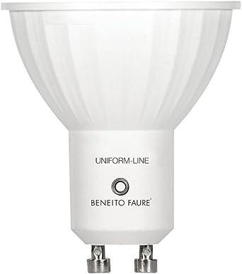 Beneito&Fauré - Bombilla Led 6 Watios Uniform Line. Casquillo GU10, color de Luz 4000K y 430 Lumenes): Amazon.es: Iluminación
