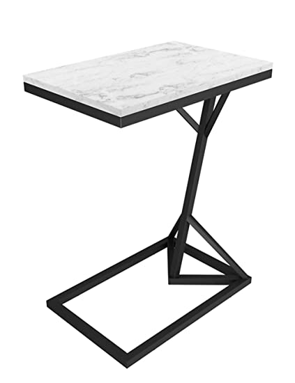 Amazon Com Wrought Iron Coffee Table Small Side Table Marble
