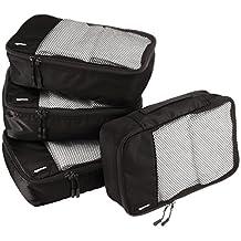 AmazonBasics 4-Piece Packing Cube Set - Small, Black