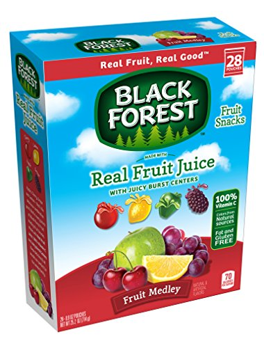 Black Forest Medley Juicy Center Fruit Snacks, Mixed Fruit Flavor, 0.8 Ounce Bag, Pack of 28 (Center Snack)