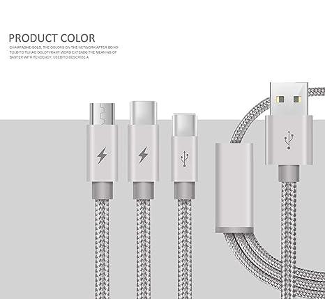 MIJIN Cable Cargador múltiple, Conector de teléfono de ...
