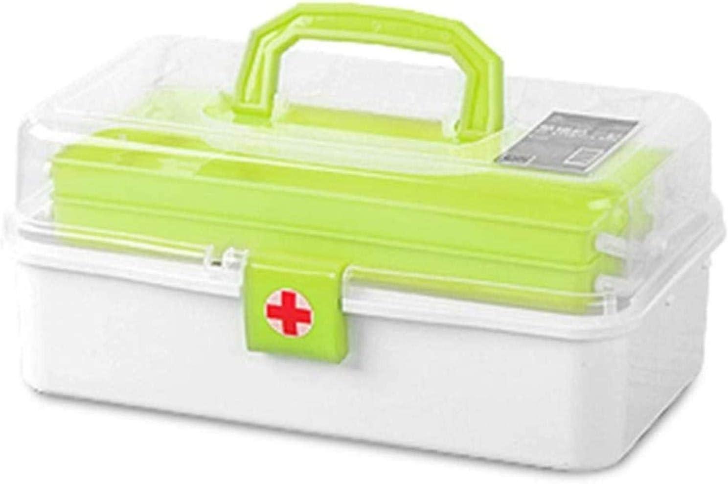 LBWNB Kit de Primeros Auxilios del Recorrido al Aire portátil Coche pequeño Kit médico Fire Box Medicina Bolsa de Almacenamiento portátil de Emergencia por terremoto de Hogares (Color: Rojo)