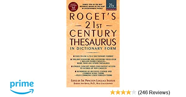 Amazon com: Roget's 21st Century Thesaurus, Third Edition